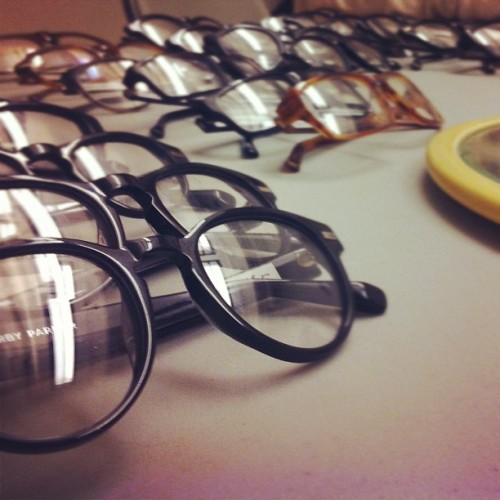 warbyparker:  Product development session! Every employee gets a say in the creation of a new collection. (Taken with instagram)  zozi has quite a few diehard warby parker fans!