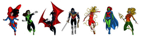 Justice League redesigned | by *snareser [deviantART]  [via chrishaley]