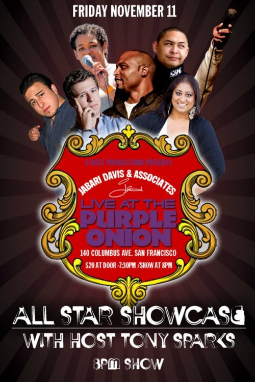11/11. Jabari Davis All Star Showcase @ Purple Onion. 140 Columbus Ave. SF. 8 PM. $20. Feat Chris Storin, Stuart Thompson, Priya Prasad, Rad Reyes, Yayne Abeba, and Jabari Davis.