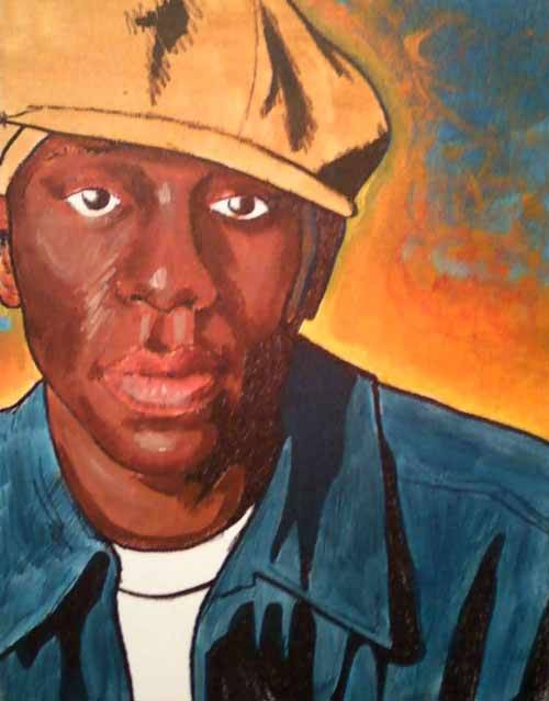 Mos Def Painting by Sam Miller of Portland, Oregon USA. Find more by Sam at his official Portland Art Blog.