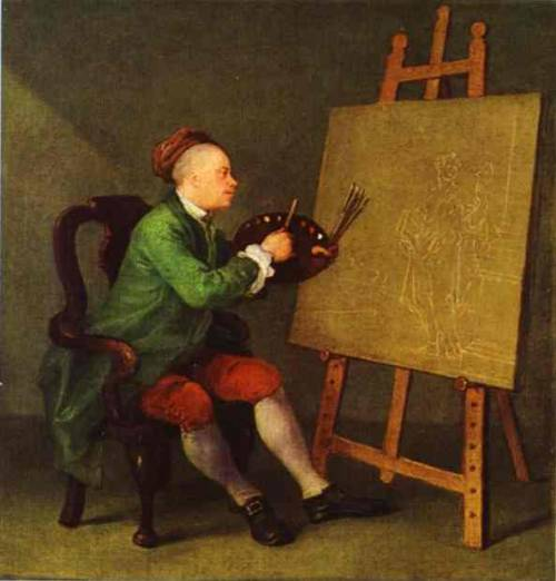 Hogarth Painting the Comic Muse by William Hogarth who was born 10th November 1697