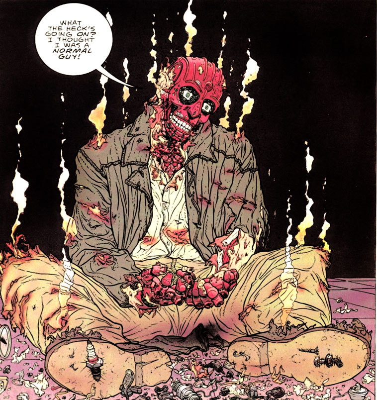 "From ""Hard Boiled by Frank Miller(writer) and Geof Darrow(artist)"