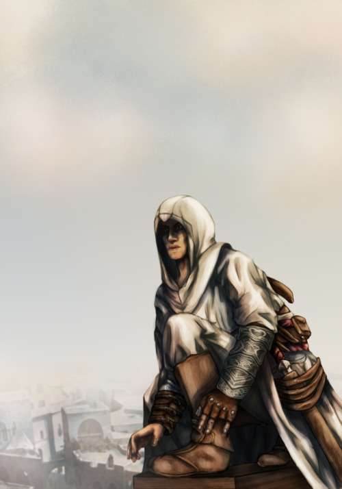 Also, my third re-work project for Thesis. Altair, what's up, man?  Before and after, once again.