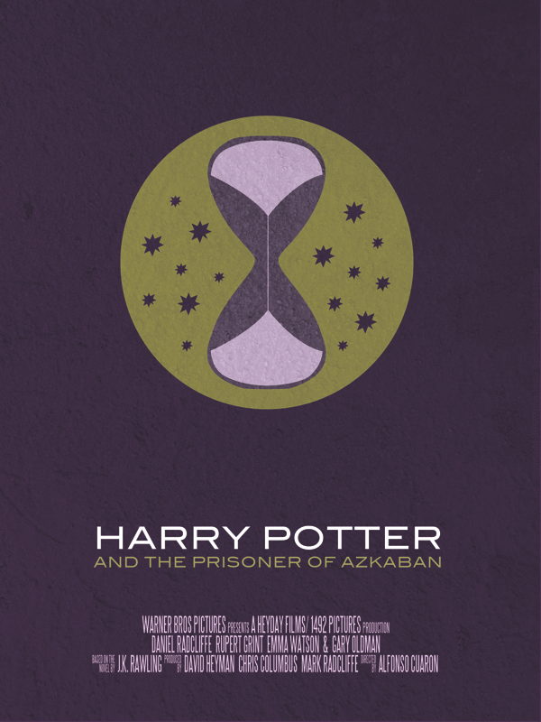 Harry Potter and the Prisoner of Azkaban minimalist movie poster by Vincent Gabriele