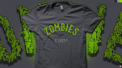 """ZOMBIES, run!"" vote for it to get printed at Qwertee - click here."