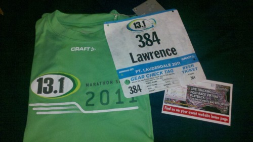 Half marathon on Sunday!!