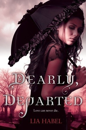 "bitemereadme:  Dearly Departed by Lia Habel Love can never die.Love conquers all, so they say. But can Cupid's arrow pierce the hearts of the living and the dead—or rather, the undead? Can a proper young Victorian lady find true love in the arms of a dashing zombie? The year is 2195. The place is New Victoria—a high-tech nation modeled on the manners, mores, and fashions of an antique era. A teenager in high society, Nora Dearly is far more interested in military history and her country's political unrest than in tea parties and debutante balls. But after her beloved parents die, Nora is left at the mercy of her domineering aunt, a social-climbing spendthrift who has squandered the family fortune and now plans to marry her niece off for money. For Nora, no fate could be more horrible—until she's nearly kidnapped by an army of walking corpses. But fate is just getting started with Nora. Catapulted from her world of drawing-room civility, she's suddenly gunning down ravenous zombies alongside mysterious black-clad commandos and confronting ""The Laz,"" a fatal virus that raises the dead—and hell along with them. Hardly ideal circumstances. Then Nora meets Bram Griswold, a young soldier who is brave, handsome, noble … and dead. But as is the case with the rest of his special undead unit, luck and modern science have enabled Bram to hold on to his mind, his manners, and his body parts. And when his bond of trust with Nora turns to tenderness, there's no turning back. Eventually, they know, the disease will win, separating the star-crossed lovers forever. But until then, beating or not, their hearts will have what they desire.In Dearly, Departed, romance meets walking-dead thriller, spawning a madly imaginative novel of rip-roaring adventure, spine-tingling suspense, and macabre comedy that forever redefines the concept of undying love."