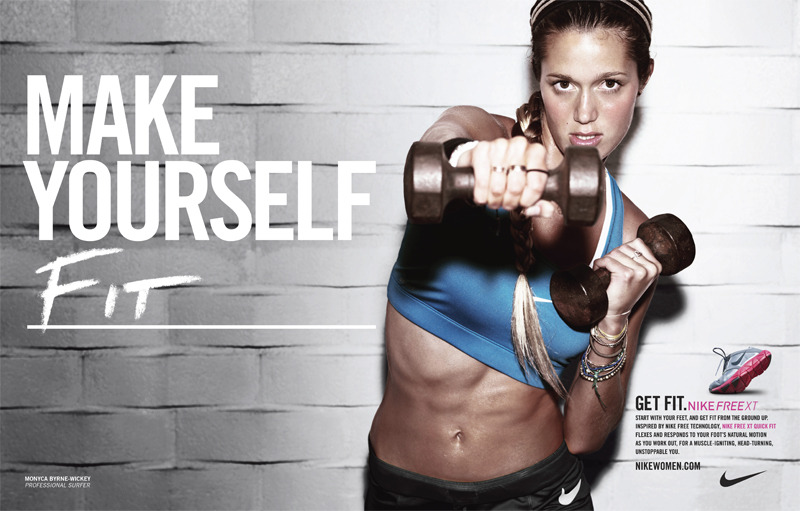 Monyca Byrne-Wickey, Nike Women, Make Yourself Campaign © Jeff Dey 2010