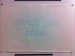 art feelings print blush printmaking blushing times new roman tough times Tommy Coleman italics text based art new art work seeing you blush tommy ccoleman