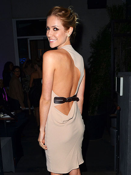 Kristin Cavallari at KISS FM's Pick Your Purse Party Love the back detail on this dress!