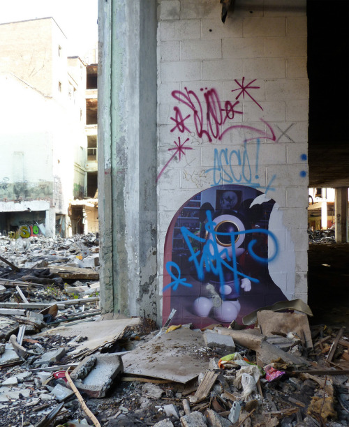 Ron English and Frost. #Detroit #Michigan #Streetart #Graffiti #Graff