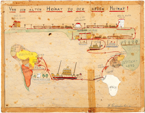 Fritz Freudenheim, 1938, An 11 Year-Old's Map of Jewish Emigration