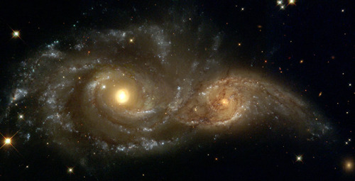 Mental exercise for the day = Our galaxy is on its way to colliding  with another galaxy. We are heading toward this galaxy at 4,483 mph. To  imagine this speed = you can get from Rhode Island to California in a  quarter blink of an eye. Shit, you haven't even blinked yet. At this rate it will take about 5 million  years to collide. In other words, that's 62,500 lifetimes provided that  you lived until 80 years old each lifetime. Now, consider that there  are is a seemingly infinite amount galaxies in the universe.  Problems don't seem to be such a big deal anymore if you can fathom how big everything is out there. This is what is in my mind given any situation I'm in. This is  what is in my mind when you see me, always, no matter what I'm doing. -pt