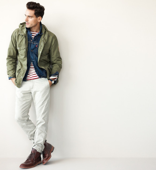 acceptable use of a jean jacket here. thanks jcrew!