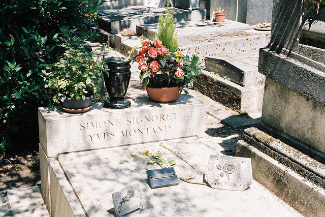 | ♕ |  They sleep here. - Père Lachaise, Paris  |  by © Xavier Encinas  The burial site of Yves Montand and Simone Signoret in the world-famous cemetery, Père Lachaise.