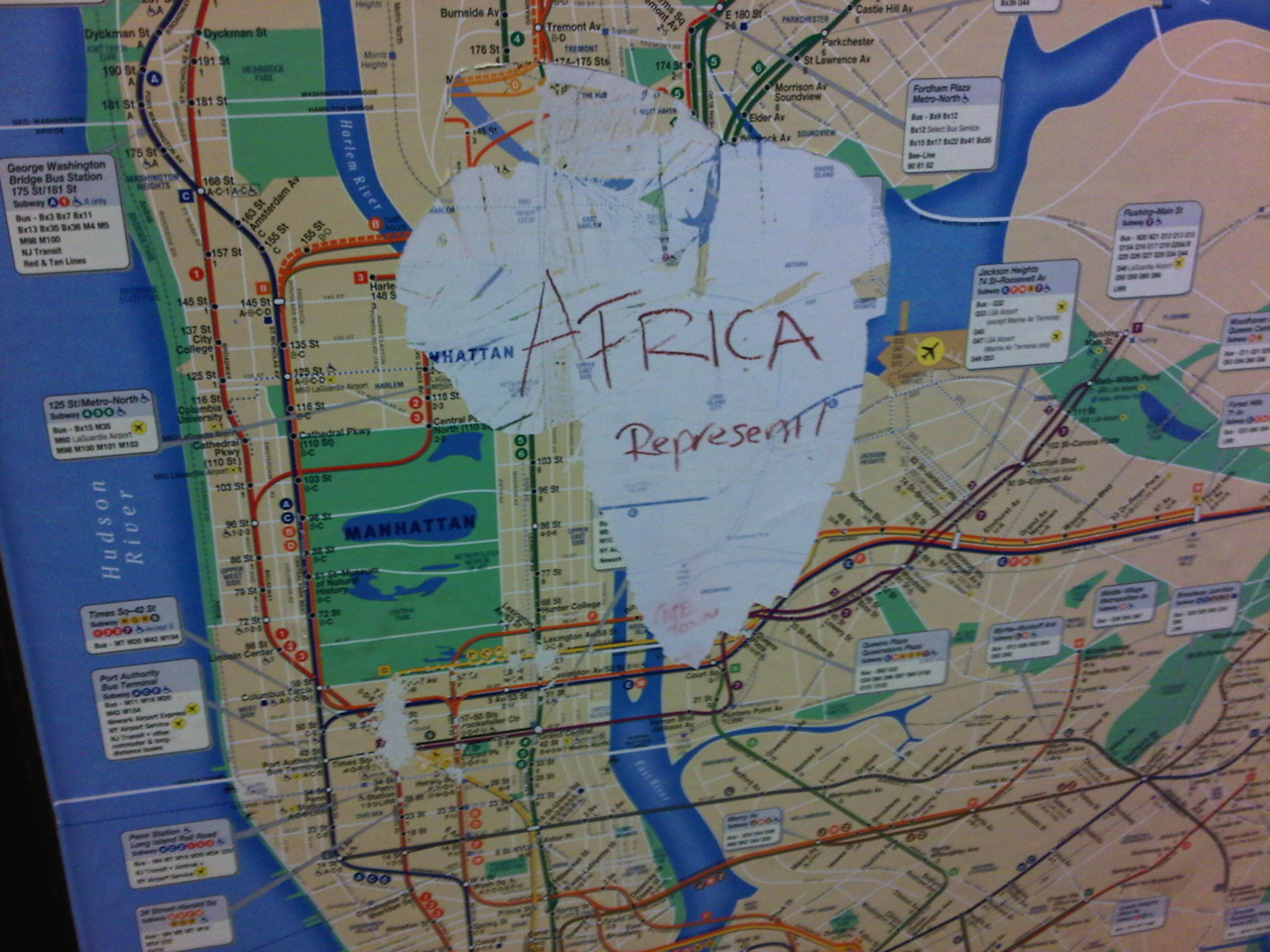 Africa's in the house. 49th street.
