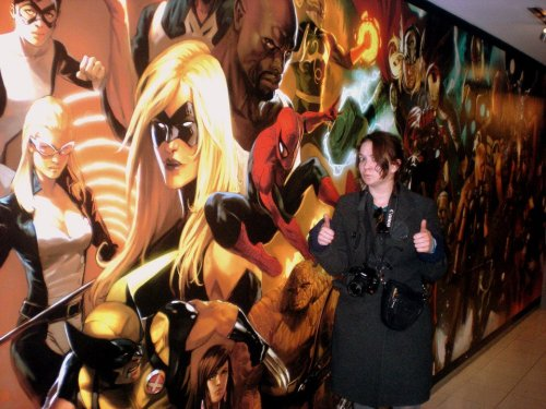 Julia IndelicateME! AT MARVEL! IN NEW YORK CITY! WOOOO!