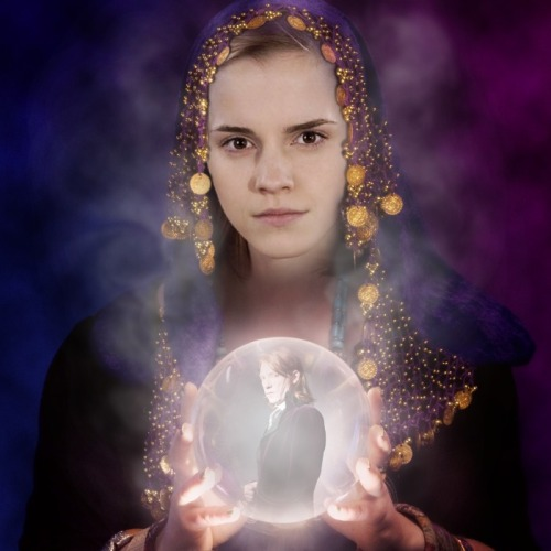 hermione see bill in a crystal ball.