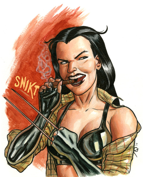 X-23 by Joe Quinones I doubt Logan will find this as funny as I do.