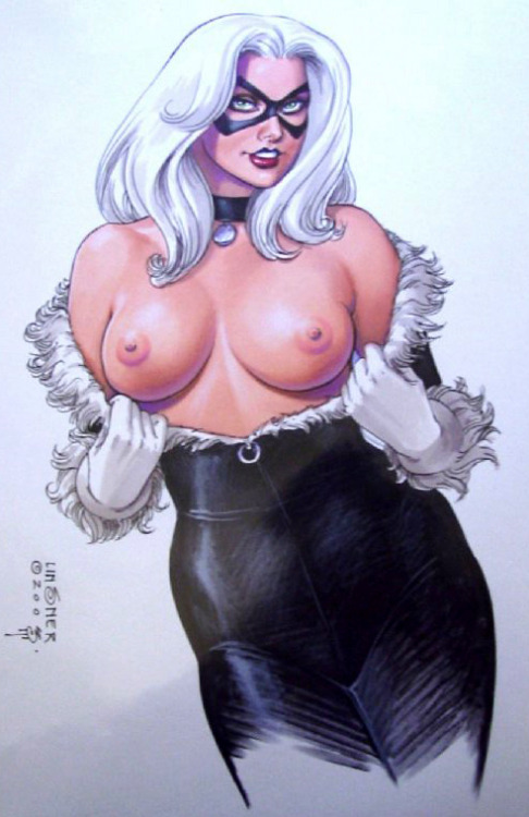 Black Cat by Joseph Michael Linsner