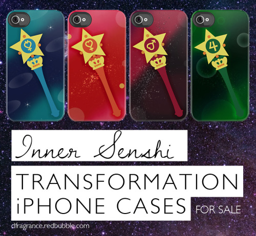 Get them over here! Planet iPhone Power! Add the iPhone power up to your favorite senshi transformation. These also make great Christmas gifts or cosplay accessories! Follow RachaelMakesShirts on Tumblr, Facebook & Twitter for discounts and sneak peeks on both shirts and iPhone cases! I've already posted some discounts over there ;-) (me: WANT. Even more reason I should get an iPhone. You are seriously amazing at making things. I'm jealous.)