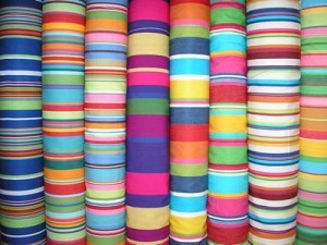 Stripey, Bright, Bold, Colourful Fabric