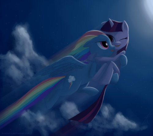 twilightsparklesharem:  vindicar:  Another Rainbow Sparkle picture. Pretty good, though.  Bad pun warning. Really bad. Ready? . . . . . Supermare and Lois Mane. That is all.