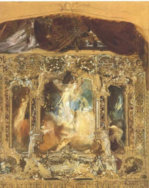 Gustav Klimt- Design for a theater curtain
