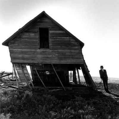 wonderfulambiguity:  Rodney Smith, Untitled, Leaning House, 2004