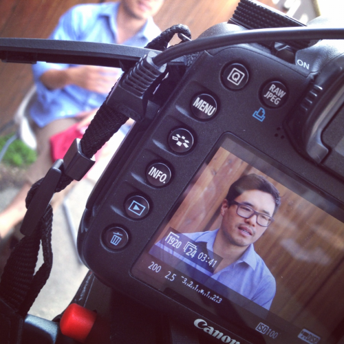 A shot from comedian Randall Park's interview for our Uploaded documentary.