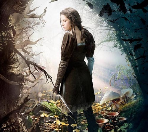 Snow White And The Huntsman gets a visually stunning trailer Universal has released the first official trailer for Rupert Sanders' fairytale reimagining Snow White And The Huntsman, and it's probably the most visually arresting teaser we've seen all year.As the pumping electro soundtrack kicks in, it's clear from the off that this is going to be a heavily stylised version of the classic fairy story, with the film's modern-Gothic aesthetic announced through a spectacular, dissembling flock of ravens.Many of the ancient yarn's classic details appear to be intact, but are presented with such verve that they feel genuinely fresh, the anthropomorphised magic mirror an eye-catching case in point.[FOR THE FULL STORY, CLICK ON KRISTEN OR FOLLOW THIS LINK]