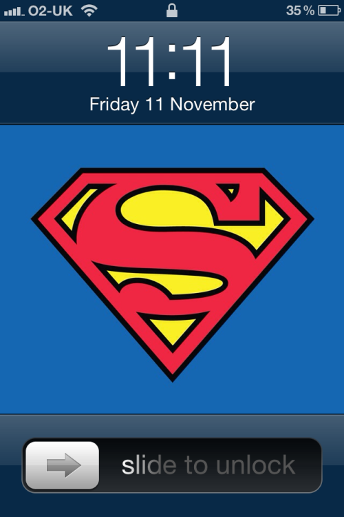 '11:11'  S for Superman  I ❤ my  iPhone 4S