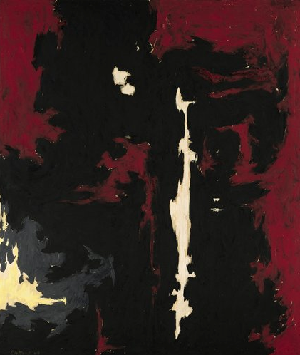 I worked at the Sotheby's Auction the other night where the Clyfford Still painting, above, went for a whopping $61.7 million. At first I thought the auction would be exciting and interesting… but then I thought about my hourly wage… and suddenly my interest disappeared.