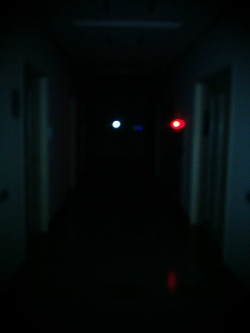 ifrec hallway at 10pm. they turn off the lights :)) and leave you in teh dark lol #freakingMyselfOut (Photo by jameni)