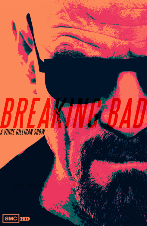 A custom poster for Breaking Bad. Inspired by retro 80's posters. Oh and if you haven't heard of Breaking Bad, do yourself a favour and watch it (its good shit, trust me)