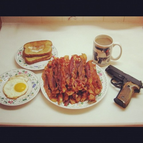 I love a bit of gun with my bacon.