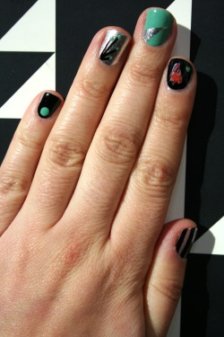 Dot. Sprout. Spike. Anatomical and mini heart. Stripe. xx ManicMonday