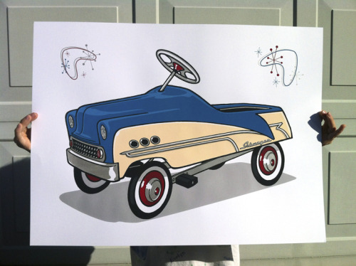 "My newest art print, ""My first car…"" 18"" x 24"" - 8 colors/screens. Limited edition of 40."