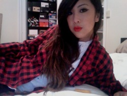 flannel is the color of my energy  i could sleep all day if you let me. i wonder if i'm narcoleptic.. went to bed at 10 last night and slept til 9 this morning. is there something wrong with that?? wrong with me?? on a lighter note, my tips are getting blonder!