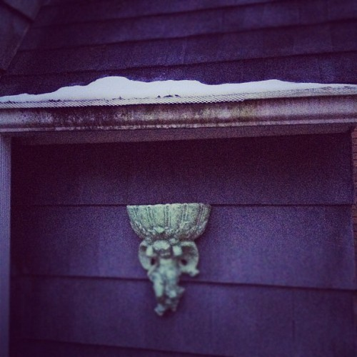 Evidence of snow on my roof from yesterday  (Taken with instagram)