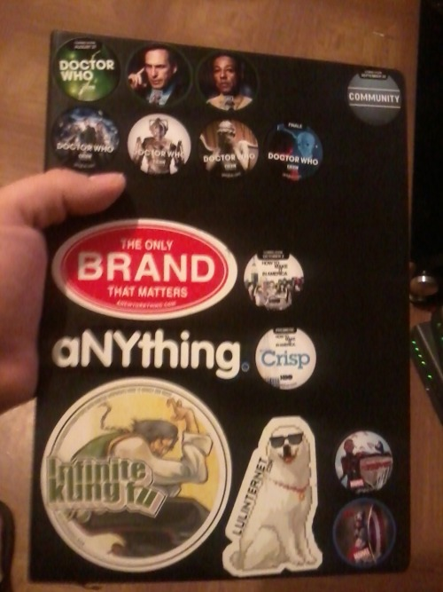 This, this is what Getglue is for. Check out them stickers, bro. That sketchbook is completely empty, but at least it looks like I use it.