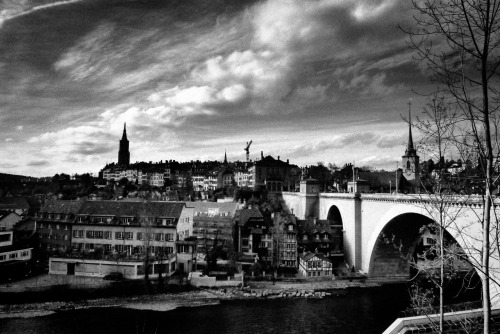 A black and white photo of Bern, Switzerland, a trip back in time. submitted by: proofreadbyadyslexic, thanks!