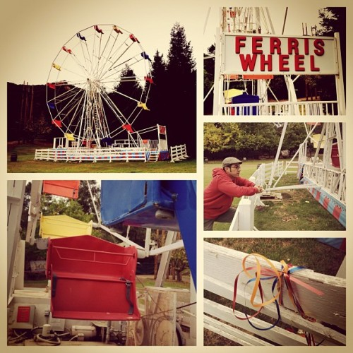Ferris Wheel Ranch #iphone #beautiful #amazing #amazing #colors #iphonography #iphoneography #ferriswheel #retro #carnival #oldtime (Taken with instagram)