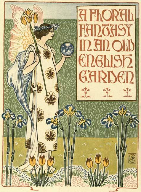 indigodreams:  in-the-middle-of-a-daydream: A Floral fantasy In An Old English Garden by Walter Crane (1899)