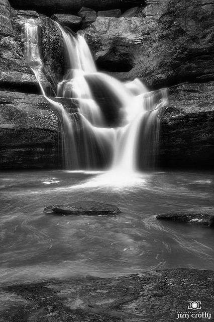 Cedar Falls Black and White by Jim Crotty on Flickr.Cedar Falls Black and White