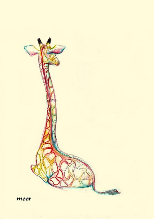 This drawing is just beautiful, just like my little (sister) giraffe. I love you.