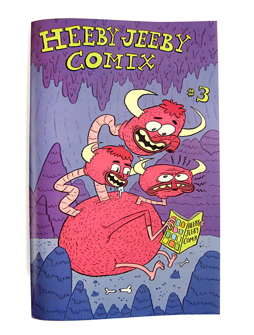 // Heeby Jeeby Comix #3 // Our latest print edition is available to purchase from my online store.32 pages | Full Color | Comics by Bob Flynn, Dan Moynihan, and David DeGrand [ heebyjeebycomix ]