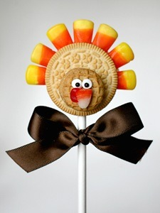 Thanksgiving turkey cookie pops! :)