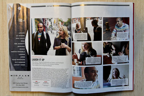 In December's Toronto Life, #1 international bestselling author  Neil Pasricha talks about positive thinking during the holidays. His third book, The Book of (Holiday) Awesome, is out this month. Here's a quote from Neil, on the importance of the workplace:  If I wasn't going to an office every day, I'd be massively unproductive. I would quickly devolve into a caveman who didn't shave, ate Chicken McNuggets, and wore track pants. I need a reason to get up in the morning and put on a shirt.