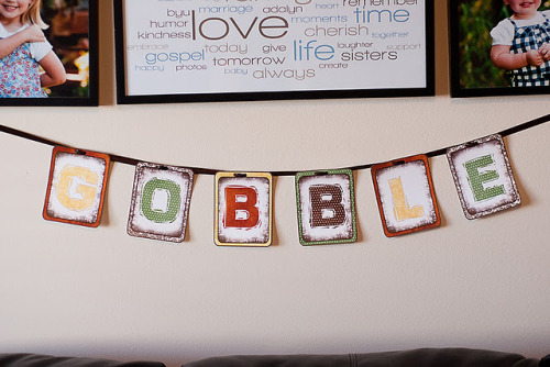 Gobble banner printable from Bits of Everything